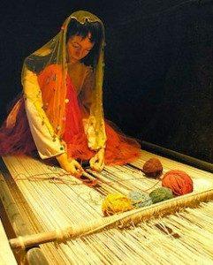 hand weaving rug